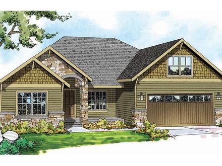 Craftsman House Plans With Porch Single Story Craftsman