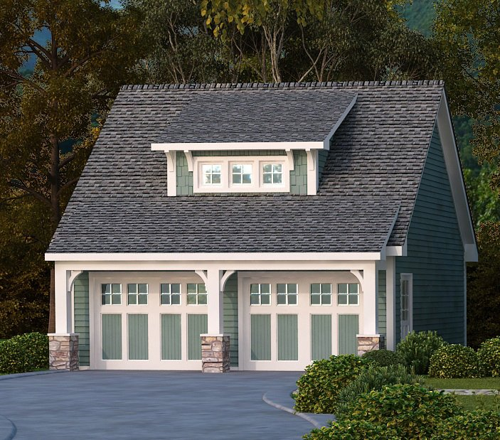 Craftsman style detached garage plans house plans with for Southern living detached garage plans