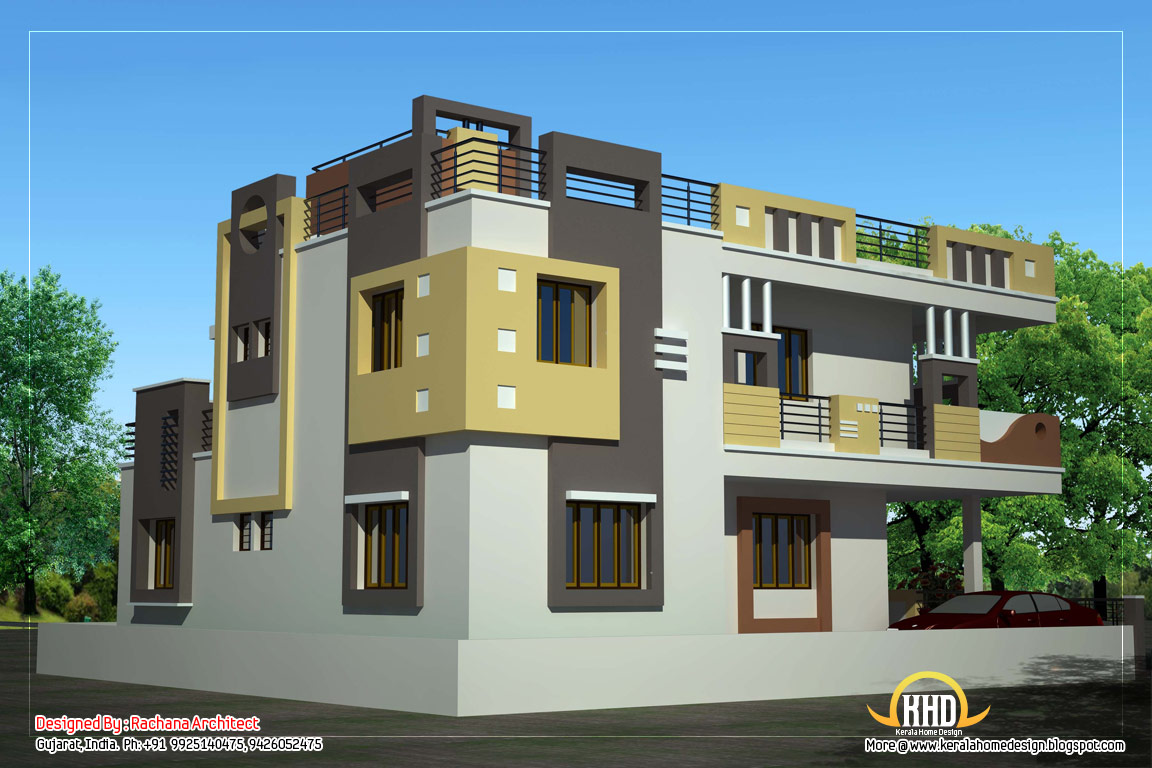 Duplex House Elevation Designs Luxury Duplex Designs