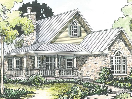Wrape home country homes with wrap around porches country for English cottage style home plans