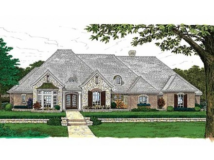 French Country House Plans One Story Small Country House Plans