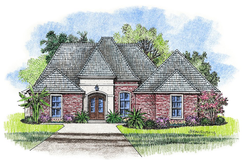 French country louisiana house plans small country house for Small french country homes