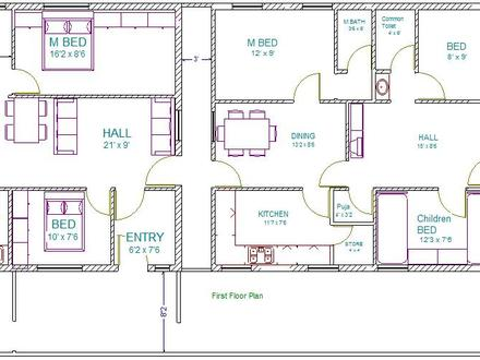 14 x 40 floor plans 30 40 house floor plans 30 40 site for 14 x 40 house plans