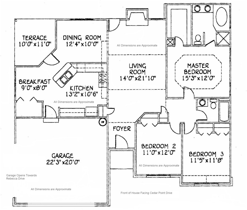 House Floor Plans with Dimensions House Floor Plans with RV Garage Attached