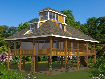 House plans for homes on pilings ranch house plans piling for Piling homes