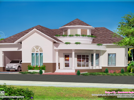 Kerala Single Floor Home Design Single Story Open Floor Plans