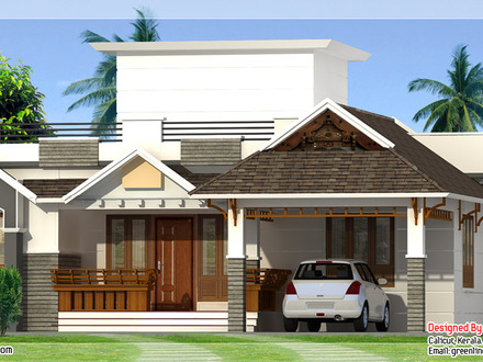 Kerala Style Single Storey House Design Bungalow Home