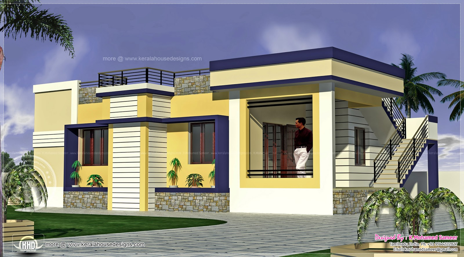 Kerala tamil nadu house plans 1000 sq ft house plans 1000 for Kerala model house plans 1000 sq ft