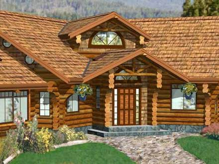 Small guest house floor plans small cabin floor plans with for Open floor plans log homes