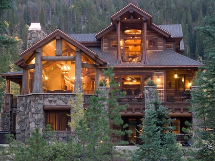 Log Cabin Homes in the Mountains Most Beautiful Log Cabin Homes