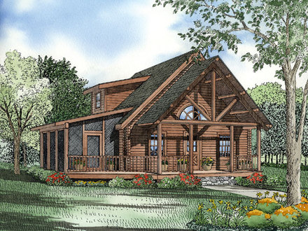Log Cabin House Plans with Open Floor Plan Log Cabin House Plans
