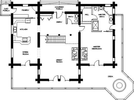 Log Cabin Landscaping Log Cabin Homes Floor Plans