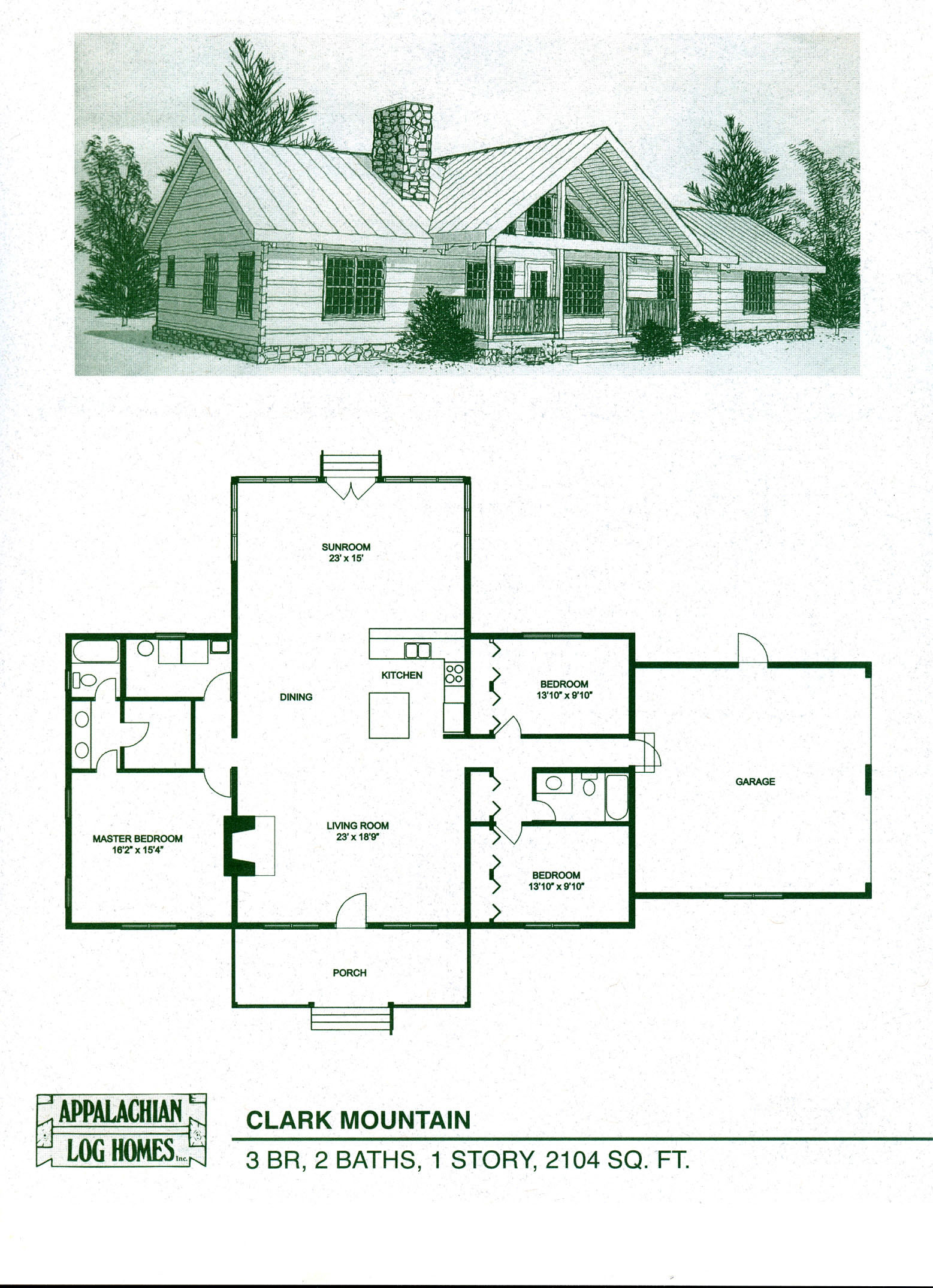 Log cabin loft 2 bedroom log cabin homes floor plans log for One bedroom home kits