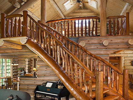 Log Cabin Loft Stairs Log Cabin Loft Ladder