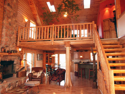 Log Home Floor Plans with Loft 2 Story Log Home Plans