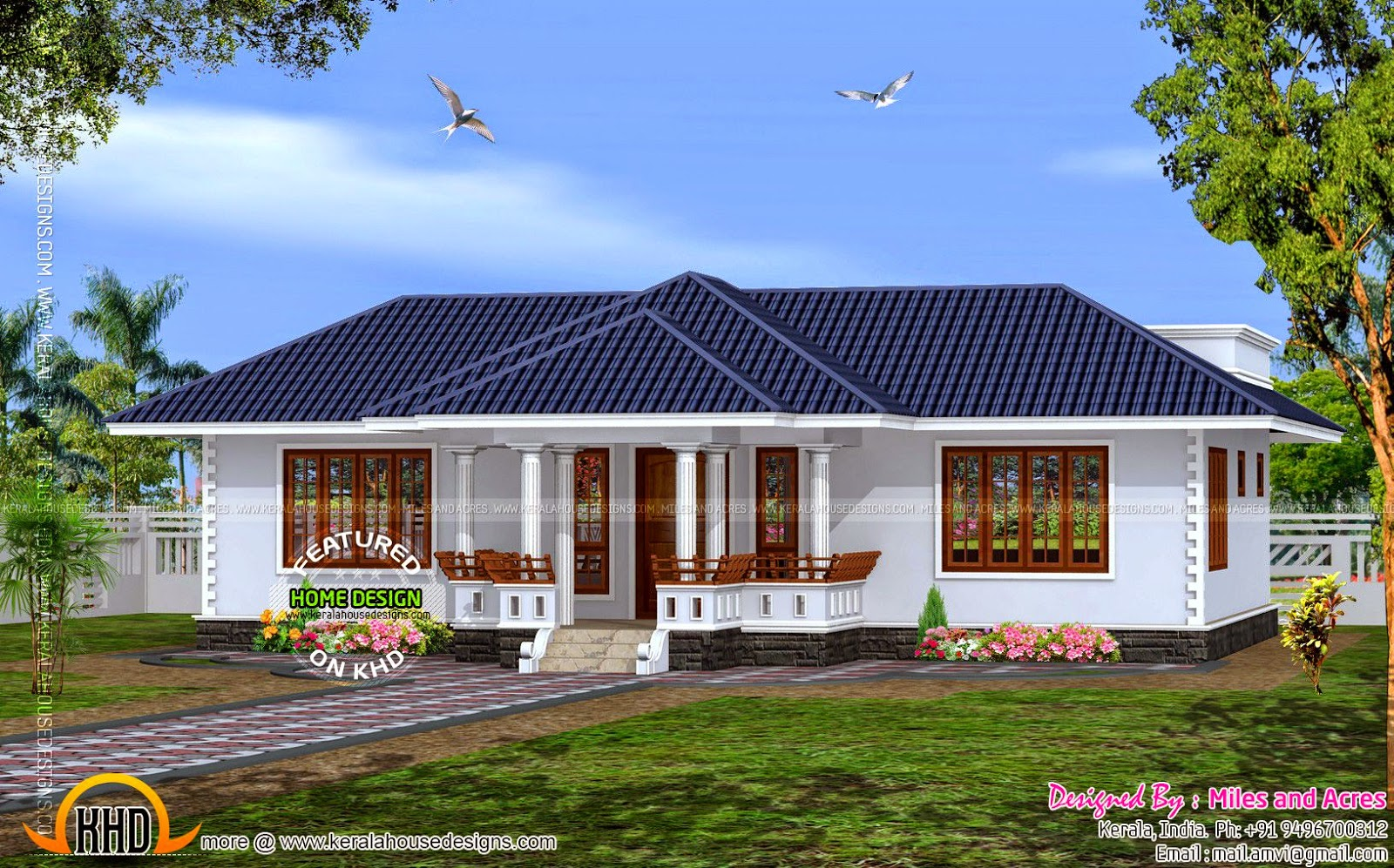 Model house plans house plans kerala style single floor for Model house design 2016