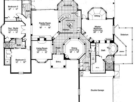 Multi family house floor plans dual family dwelling for Modern family house floor plan
