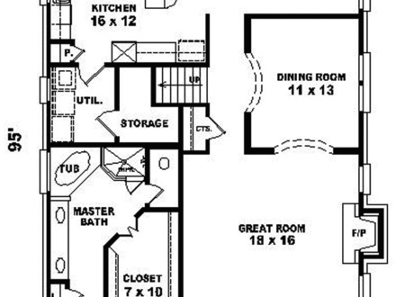Narrow lot house floor plans craftsman narrow lot homes for Lake house floor plans narrow lot