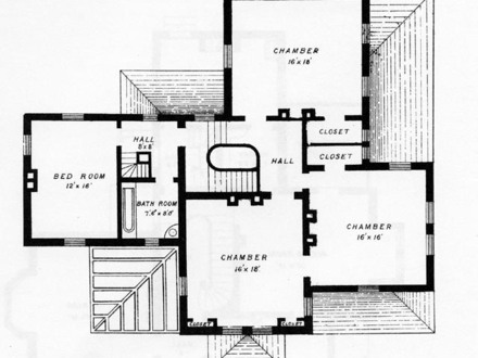 Small house with porch plan small cottages with porch for Authentic victorian house plans