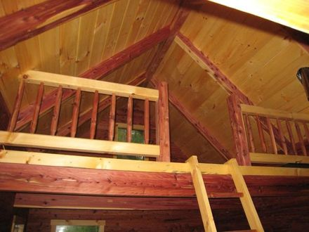 One Room Cabin with Loft Small Cabin with Loft