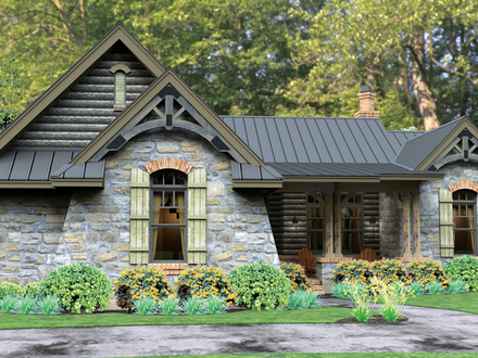 One Story House Plans with Garage Open One Story House Plans