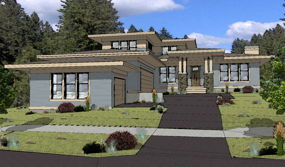 Prairie style house plans modern prairie style house plans for Prairie style ranch