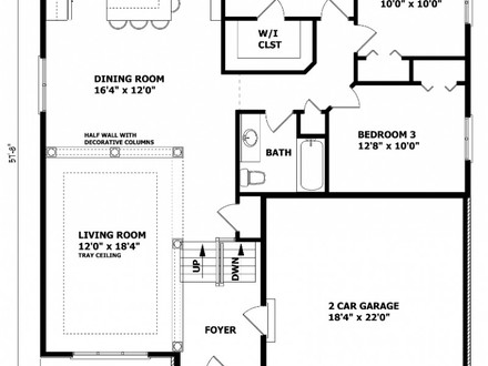 Modern ranch house plans open floor plans ranch house for Raised ranch floor plans