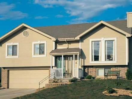 Raised house plans drive under garage raised ranch for Raised ranch house plans designs