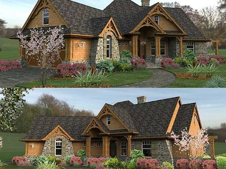 Ranch Style Homes Craftsman Mountain Ranch Style Home Plans