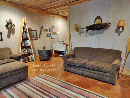 Rustic Cabin Finished Basements Rustic Basement Makeovers