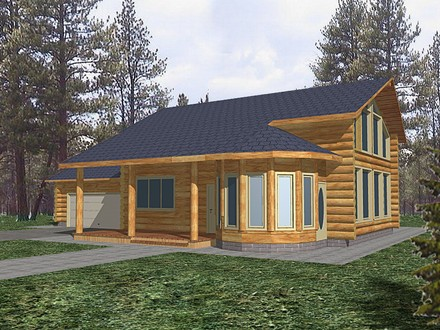 Alaskan log cabin off grid with the mountains mountain log for Rustic lake home plans