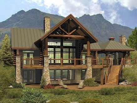 Rustic Log Cabin Wood Floors Log Cabin Homes Floor Plans