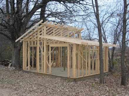 Shed Roof Design Plans Lean to Shed Frame Construction
