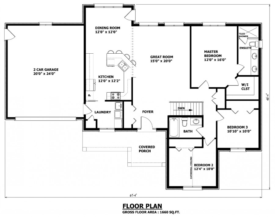 Simple Small House Floor Plans Bungalow House Plans