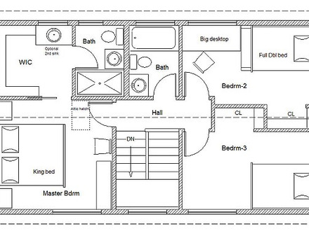 Simple Two-Story House Plans Simple House Floor Plan