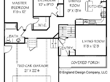 Single House Design One Level House Floor Plans