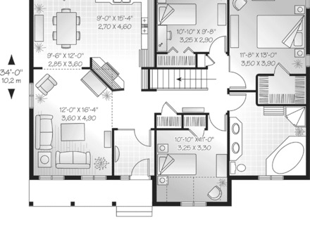 Single Story House One Story House Floor Plans