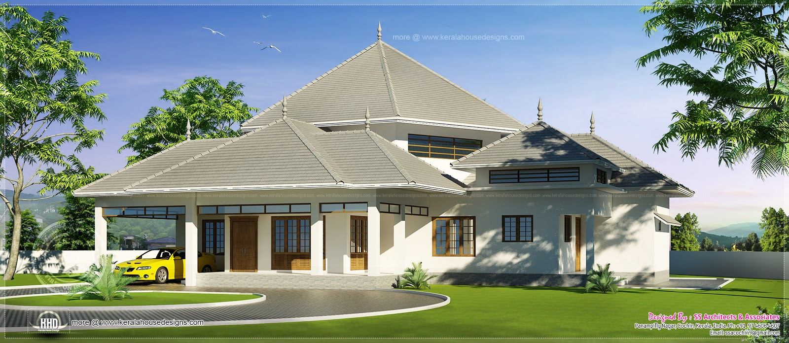 Single story house roof designs single story house plans for One story house plans with porch
