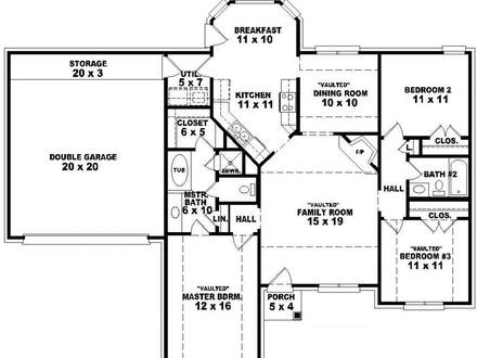 Single Story Open Floor House Plans Best One Story Floor Plans