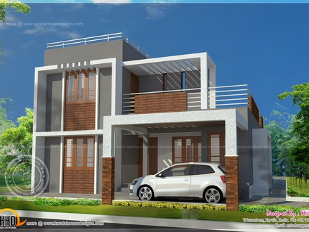 Small Flat Roof Contemporary House Plans Small-Modern-House-Plans -Flat-Roof