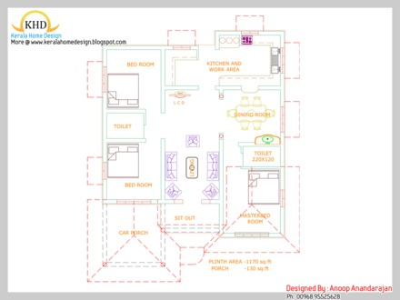 Small House Plans Under 1000 Sq FT small budget house plan 109 Square meter (1170 Sqft) October 2011