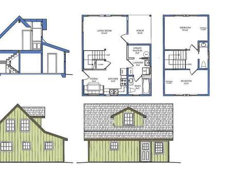 Small House Plans with Loft Bedroom Small House Plans with Open Floor Plan