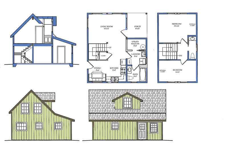 Small house plans with loft bedroom small house plans with for Alaska floor plans
