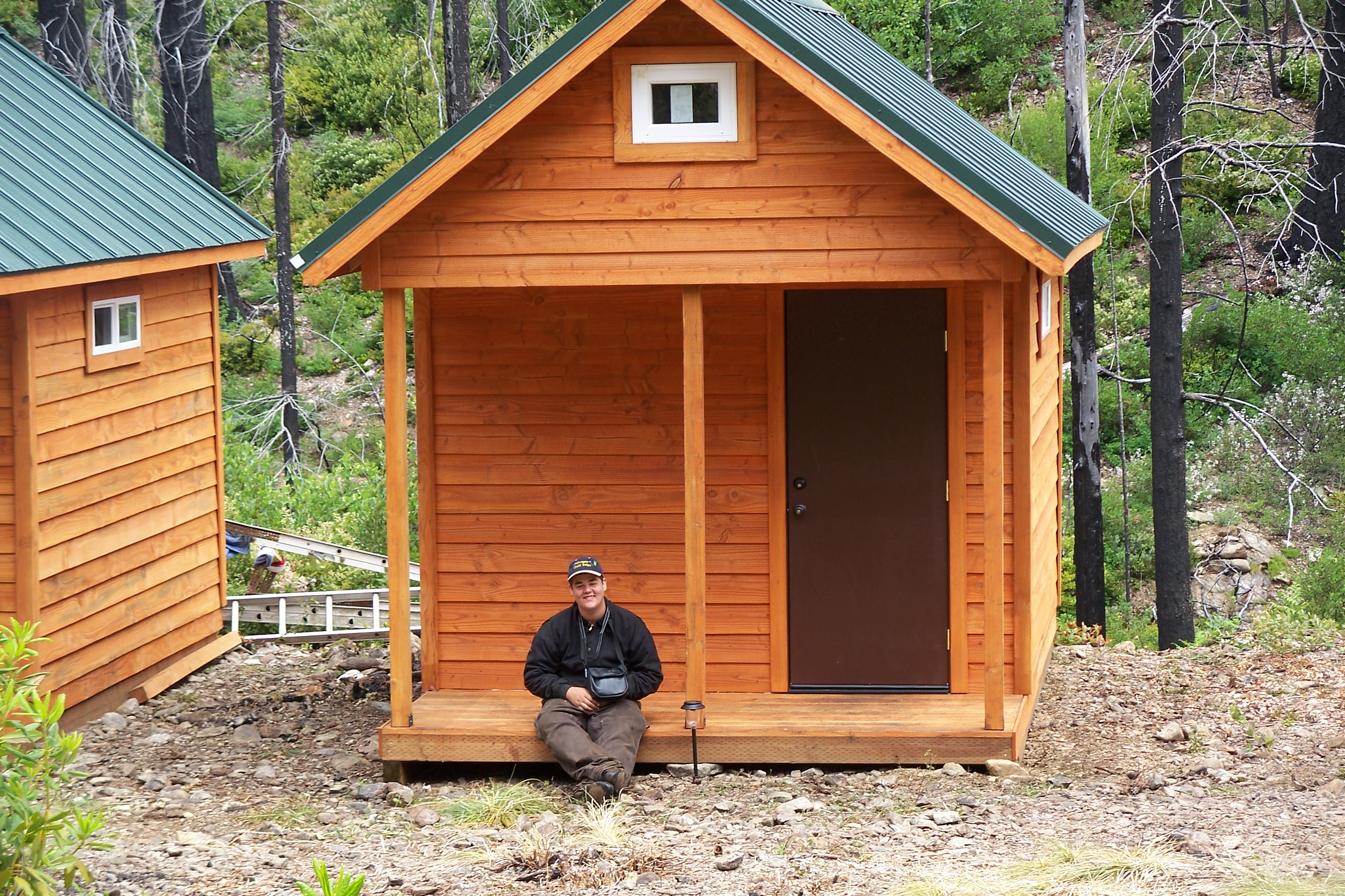 Small hunting cabin kits a frame cabin kits small hunting for Tiny hunting cabin