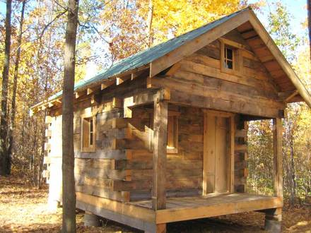 Small Rustics Log Cabins Plan Simple Log Cabins