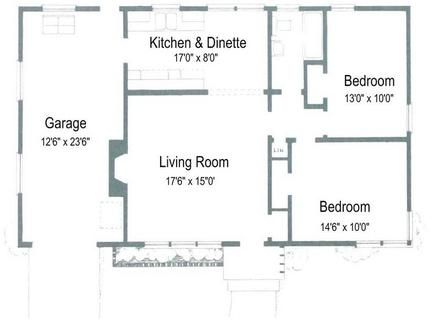 Small Two Bedroom House Plans Simple Two-Story House Two Bedrooms