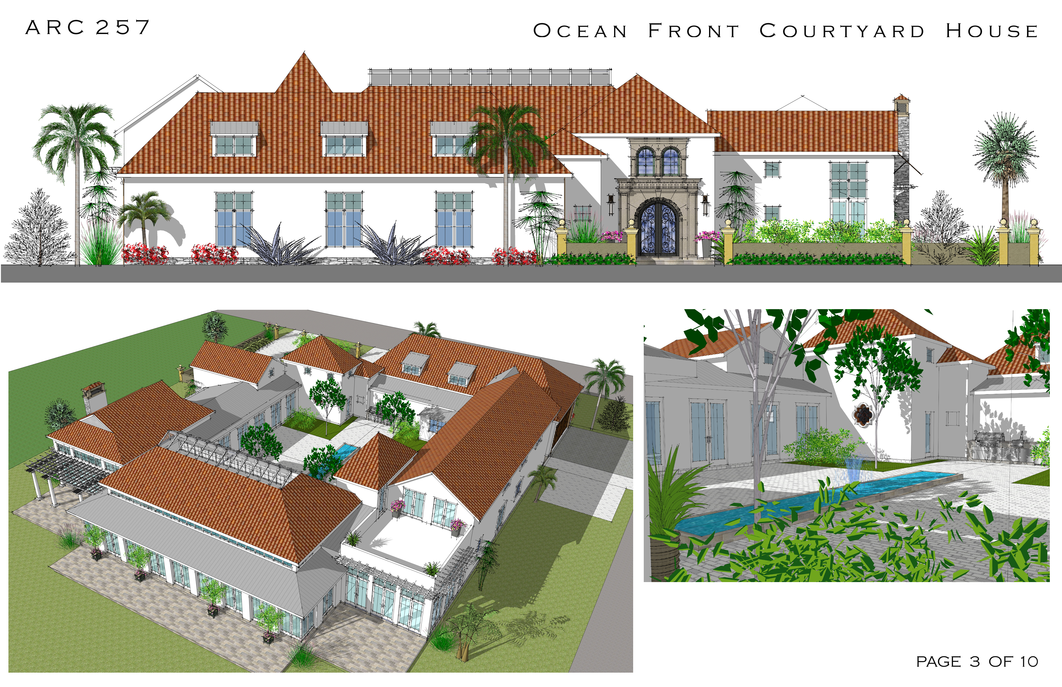 Spanish style house plans with courtyard spanish revival for Spanish revival house plans