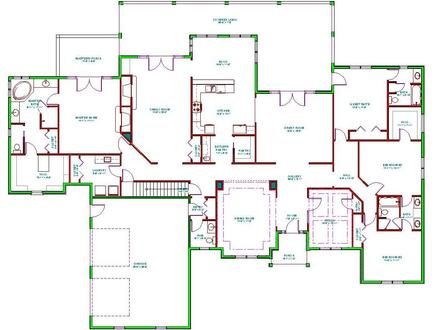 Split-Level Ranch Homes Split Ranch House Floor Plans