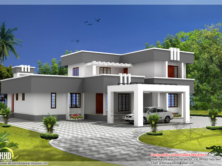 Straight Roof House Plans Flat Roof House Plans Designs