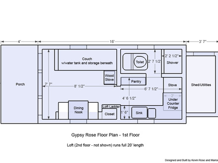 Tiny Houses On Wheels Floor Plans Modern Tiny House On Wheels